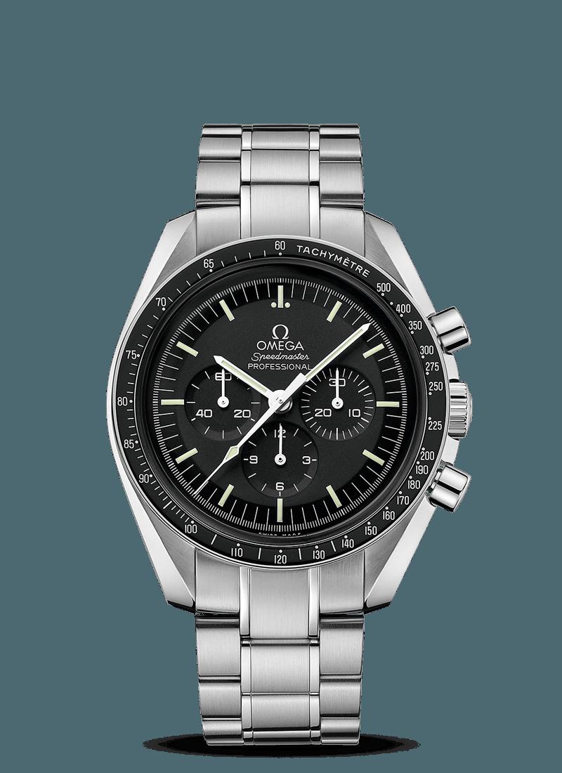 Speedmaster Omega steel moon watch